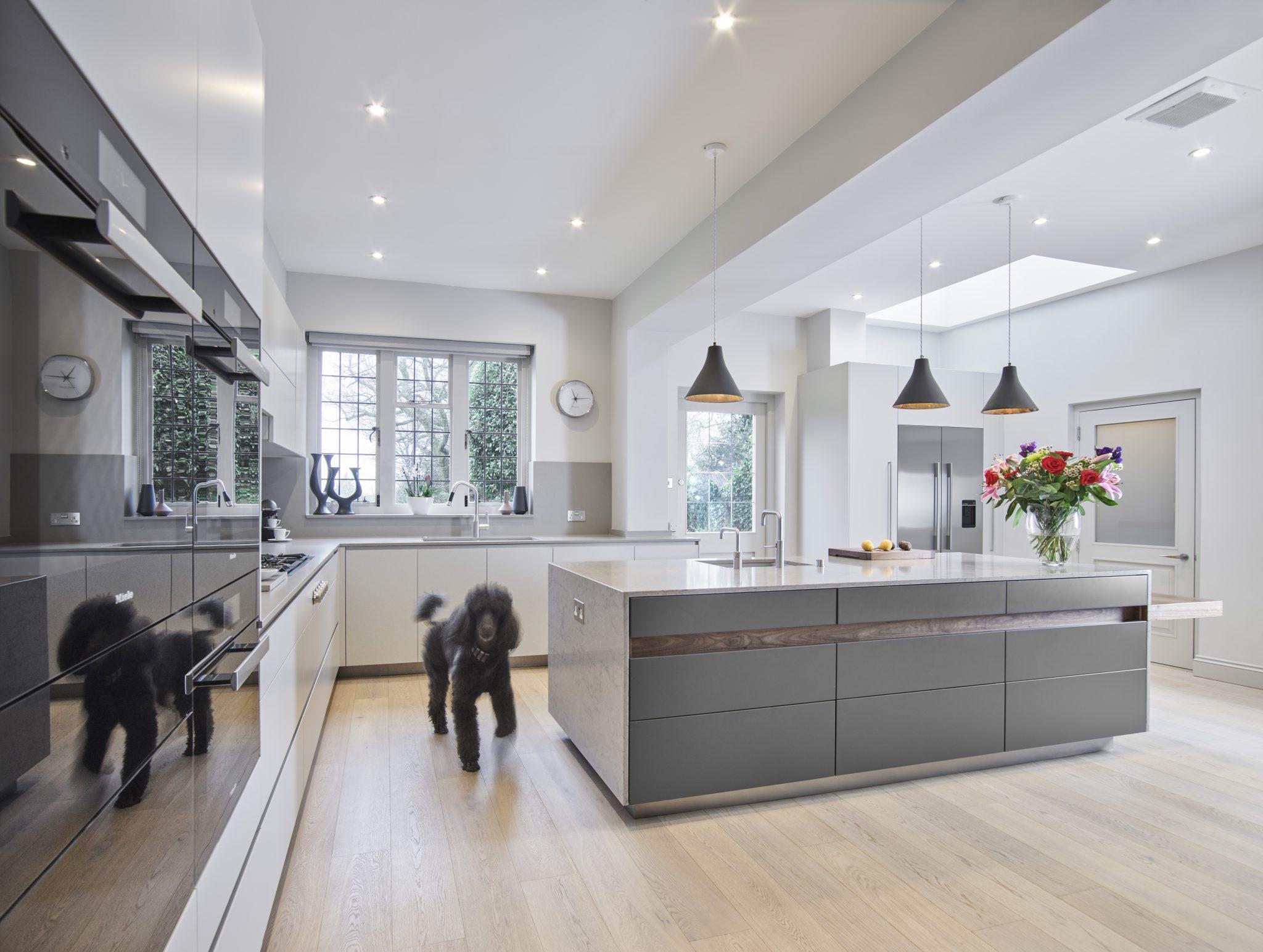 2 colour kitchen