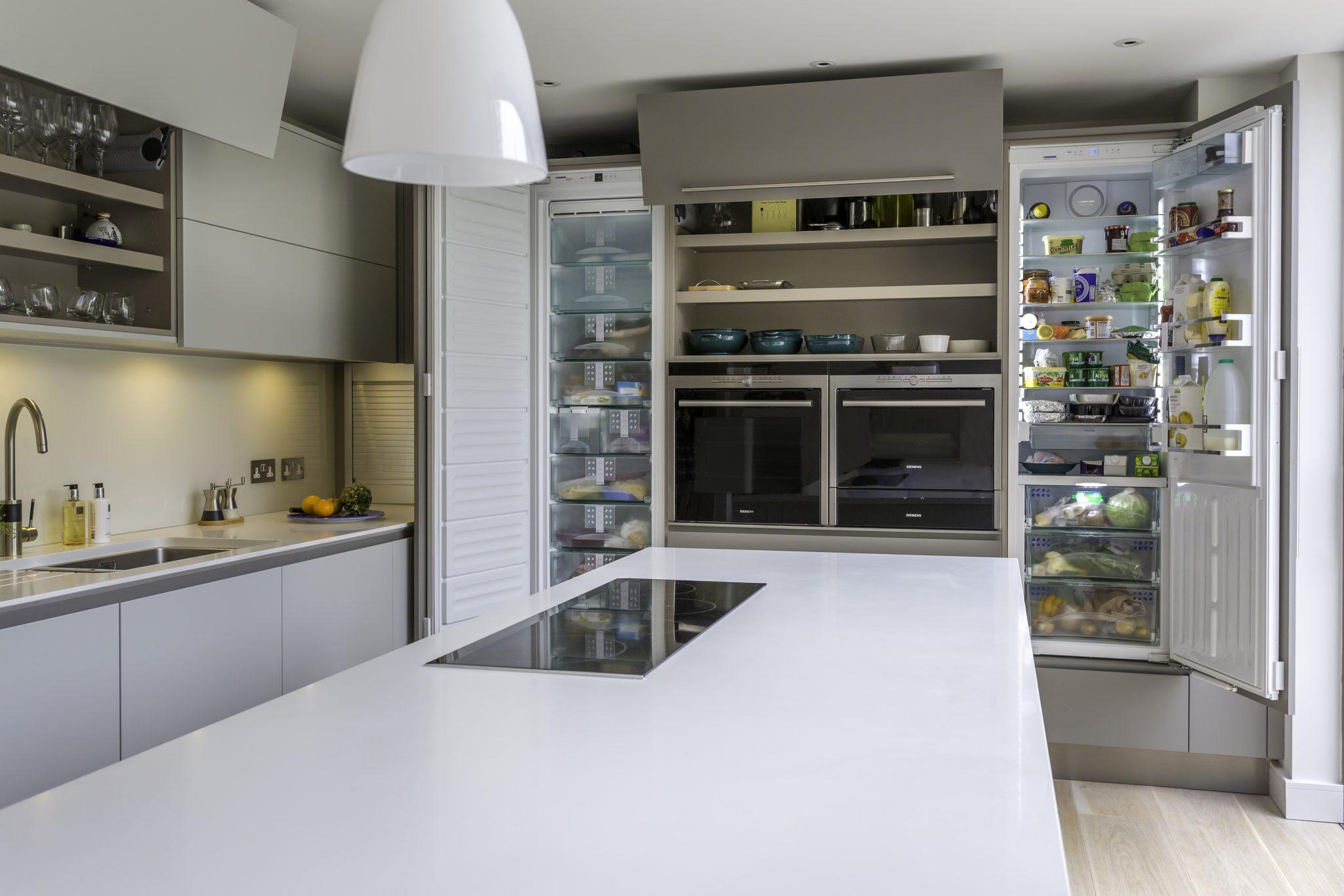 Kitchen Detail Doors open